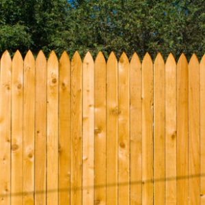 gothic point fence installation